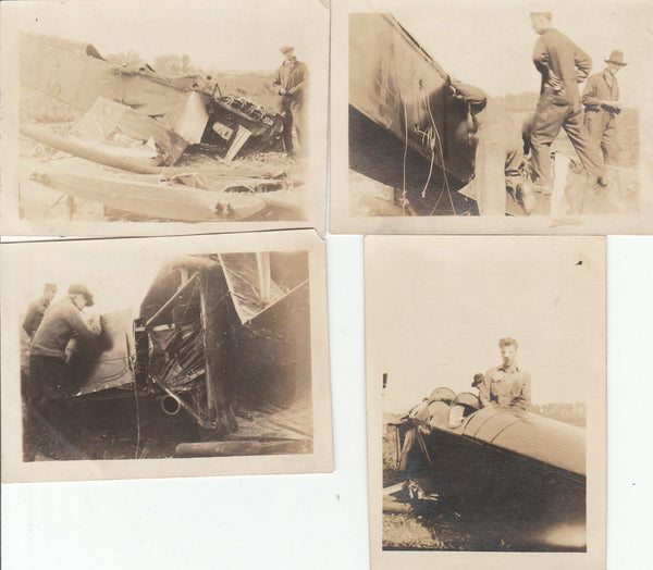 Four Jenny Crash Photos - circa 1918