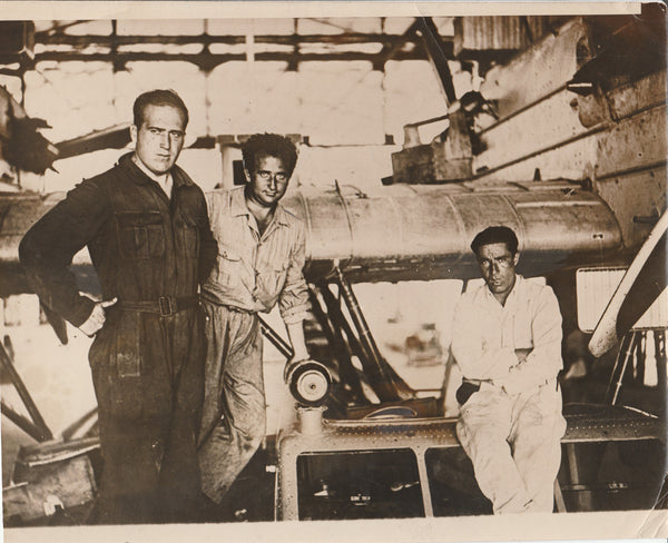 "Press Photo, ""Spanish Ace to Attempt World Flight"" - 1928"
