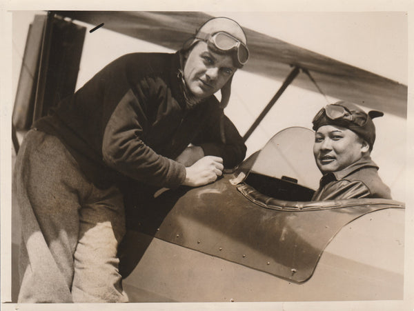 Press Photo, Chinese Student Pilot - circa 1935
