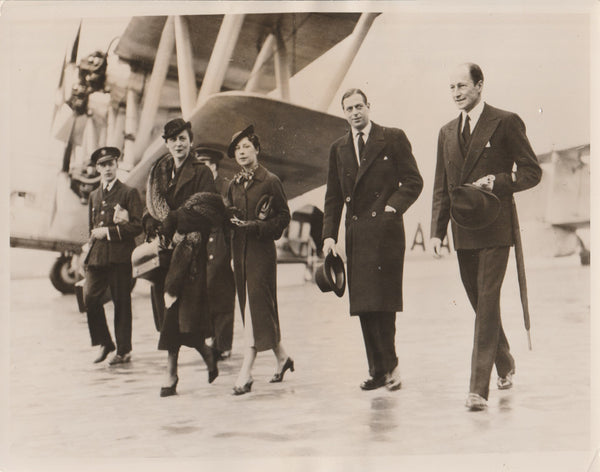Press Photo, Duke and Duchess of Kent Fly to Paris - 1936