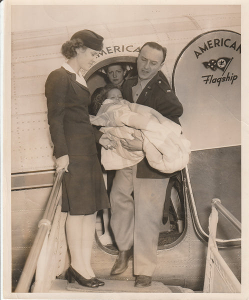 Press Photo, American Airlines Mercy Flight - 1944