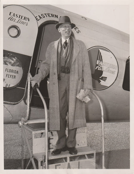 Press Photo, U.S. Chamber President Leaves for South America on Eastern Airlines - 1936