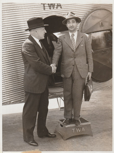 Press Photo, Head of Spanish Air Force Arrives Los Angeles - 1934