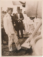 Press Photo, Prince Hirohito Inspects Army Airplane - 1922