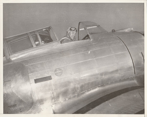 "Press Photo, ""He Sets Air Record"" - 1937"