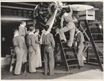Press Photo, Sky Scouts Examine TWA Skyliner - 1937