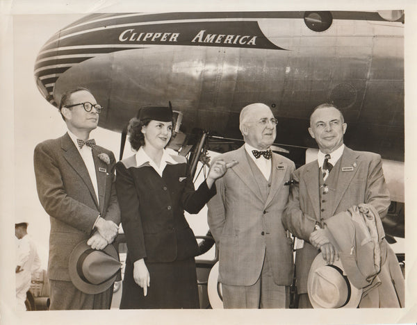 Press Photo, Pan American Inaugurates Round-the-World Flight - 1947