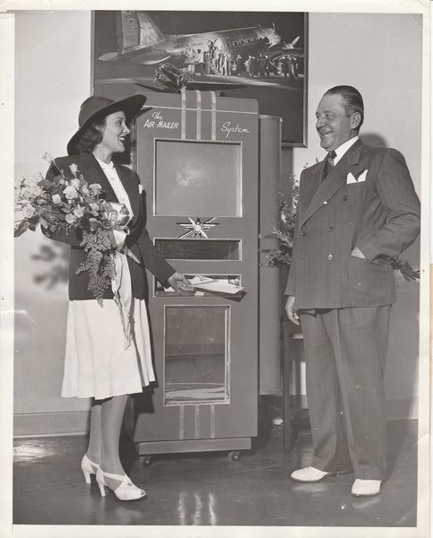 Press Photo, Air Mailer Machine Introduced - 1939