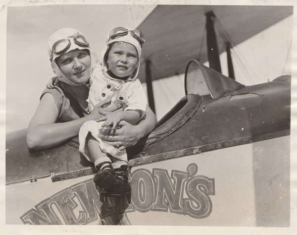 "Press Photo, ""The Youngest Aviatrix Takes to the Air"" - 1927"