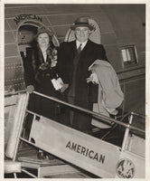 Press Photo, Society Couple Flying American Airlines - 1941