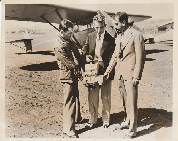 "Press Photo, Photographic Survey to Find ""Death Valley Scotty's Wealth"" - 1931"