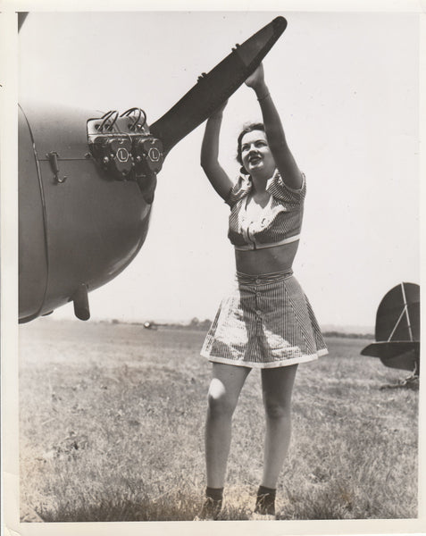 Press Photo, Pretty Law Student in Intercollegiate Flying Club Meet - 1941