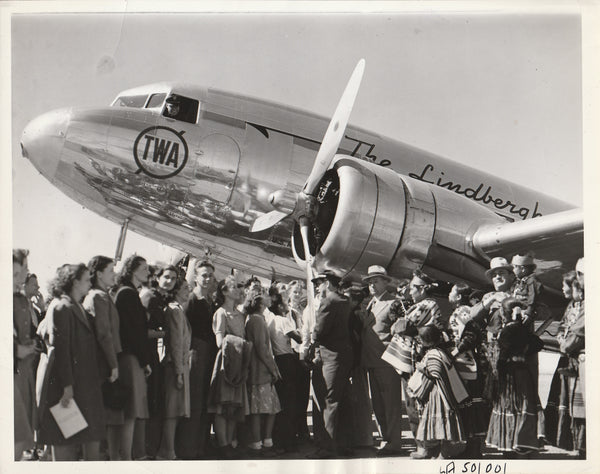 Press Photo, Albuquerque High School Students Learn Flying - 1938