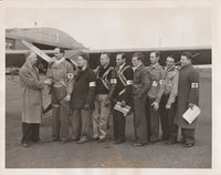 Press Photo, Colonel Clarence Chamberlain Greets New Red Cross Air Unit - 1941