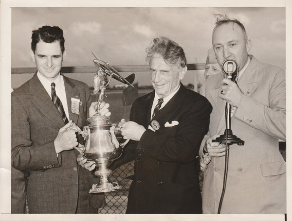 Press Photo, Homer Rankin Wins All-American Air Race Trophy - 1940