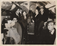 "Press Photo, Movie Star Previews First ""Talking Movie"" in TWA Aircraft - 1936"