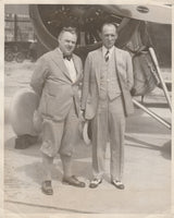 Press Photo, 4th Trans-Atlantic Flyers to Set New Record - 1930