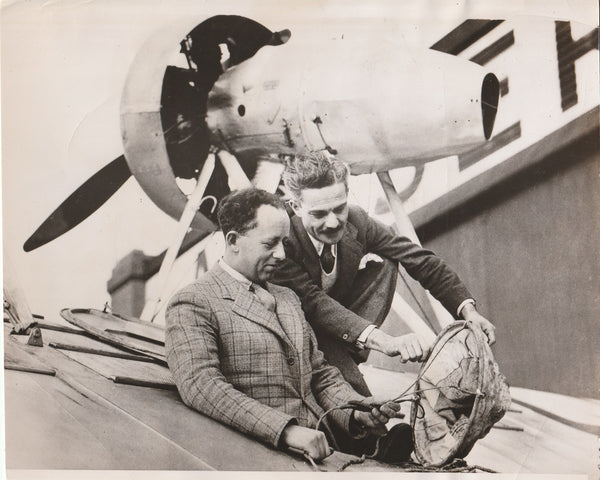 Press Photo, Imperial Airways Pilot Receives Flying Boat Instruction - 1935