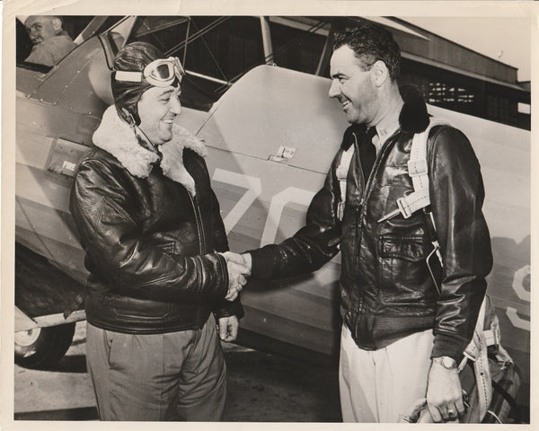 Press Photo, Son of Brazilian President Visits Naval Air Station St. Louis - 1943