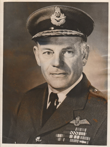 Press Photo, British Air Marshall Promoted - 1955