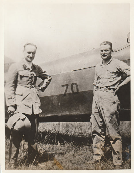 Press Photo, French Airmen En-route to Indo-China - 1927