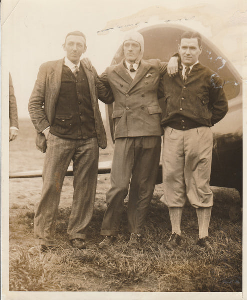 Press Photo, Lockheed-Vega Crew to Fly NY to LA Air Race - 1928