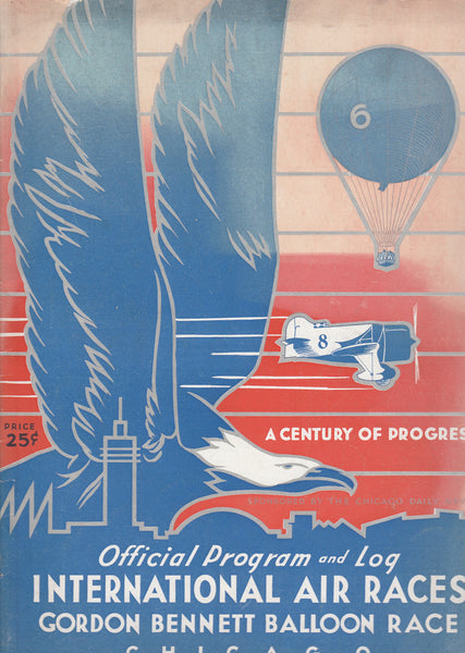 International Air Races/Gordon Bennett Balloon Race Program, Chicago - 1933