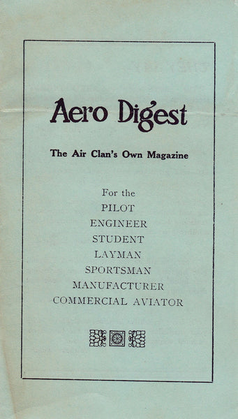 Aero Digest Sales Brochure - circa 1925