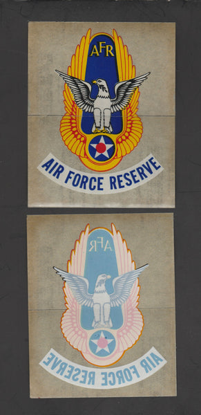 Four Vintage Air Force Reserve Decals - circa 1950's