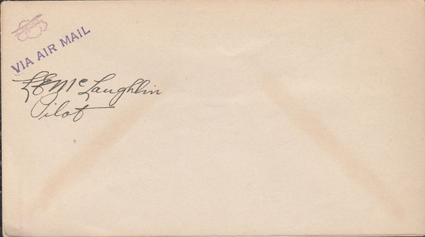Unused Air Mail Envelope signed by pilot - 1929