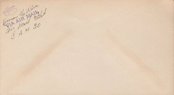CAM 30 Unused Envelope signed by pilot - 1930