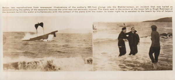 Two-Photo News Presentation of Mediterranean Crash - circa 1910