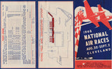1946 Tri-Fold Ticket Order Form for Cleveland National Air Races