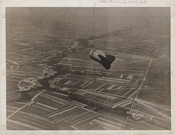 Aerial View of WWI Observation Balloon - circa 1917