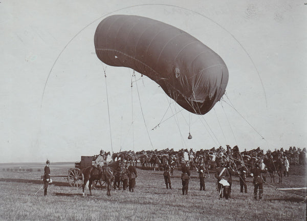Rare German Observation Balloon Press Photo - 1901