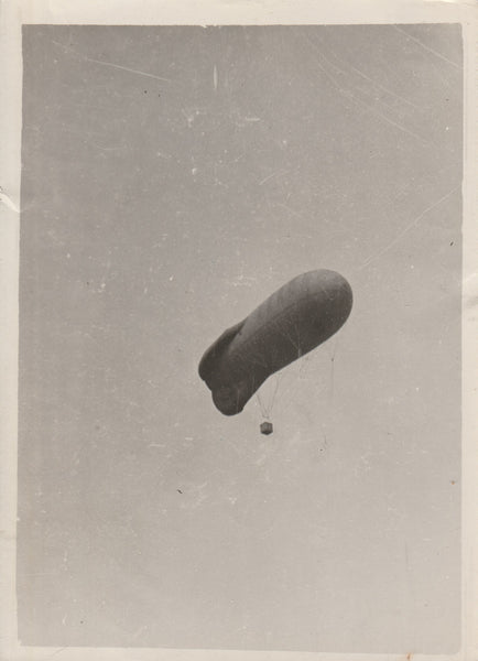 WWI French Press Photo of an Observation Balloon - circa 1916