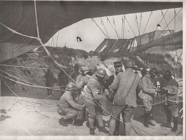 Set of Seven (7) Original Vintage WWI French/Belgian Observation Balloon Photos