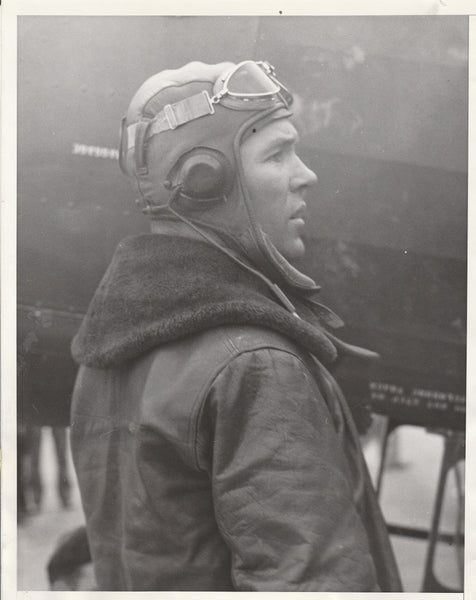 Original Press Photo of Airmail Pilot, Post-Crash - 1934