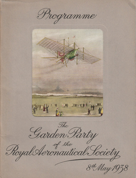 Royal Aeronautical Society Air Show Program - 1930