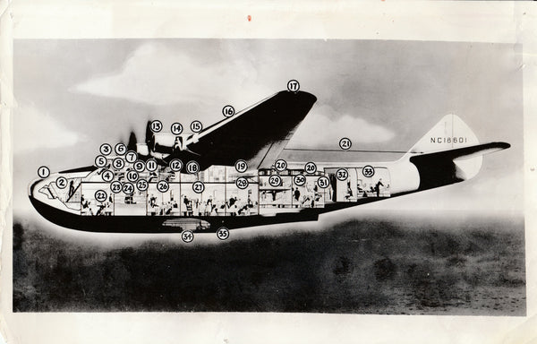 Press Photo - First Boeing Transatlantic Passenger Airliner - 1937