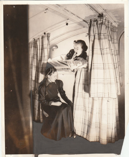 "Press Photo, ""Downy Couch Awaits Dorothy on China Clipper"" - 1936"