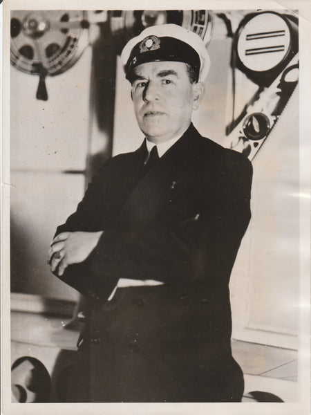 Original Press Photo of Albert Sammt, Zeppelin Crew/Commander - 1937