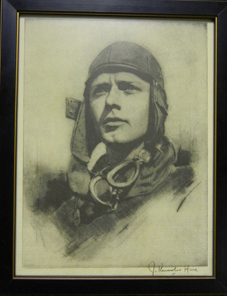 Lindbergh Etching by J. Knowles Hare