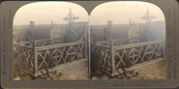 Stereo Card, Keystone V19225 - Quentin Roosevelt Grave