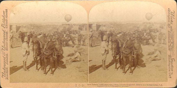 Underwood & Underwood Stereo Card 109 - British Observation Balloon circa 1900