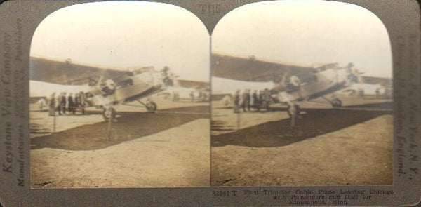 Stereo Card, Keystone T115 - Early Airline Flight in Ford Trimotor