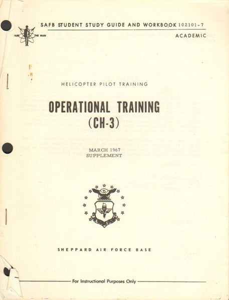 CH-3 Operational Training Study Guide and Workbook - March 1967