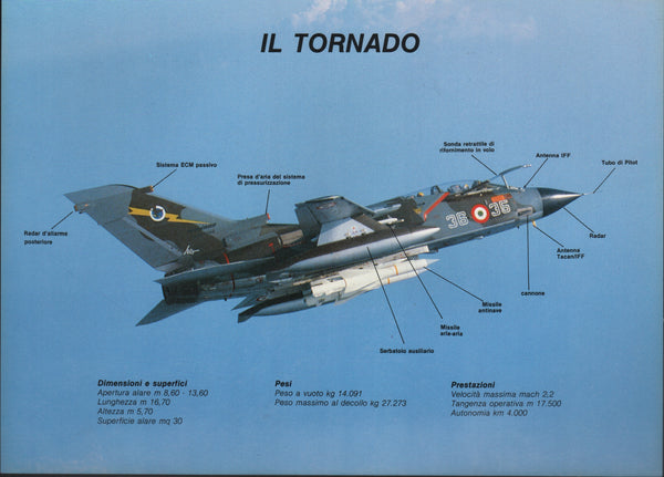Italian Tornado Folder - Sentry Wolverine 1987 Air Show