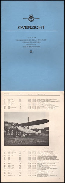 "Overview - Register of Dutch Aircraft ""Rarities"", 1920-1945"