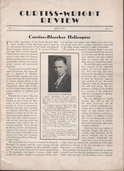 Curtiss-Wright Review (partial) - July 1930